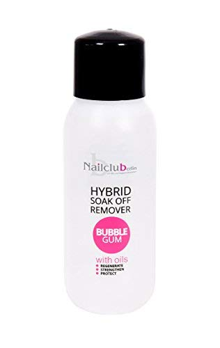 Hybrid Soak Off Remover Bubble Gum mit Pflegeöl für Soak-Off, Gel Polish, Acryl, Gellack, Shellac 300ml