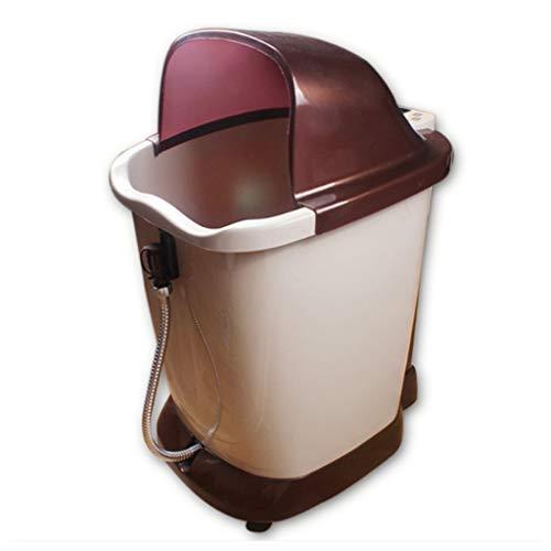 WSWJJXB Fuß Badewanne automatische Massage Fußbad Barrel elektrische Waschbecken Tiefe Barrel Massage Schaum Fuß Bad Schaum Becken (Fuß-waschbecken)
