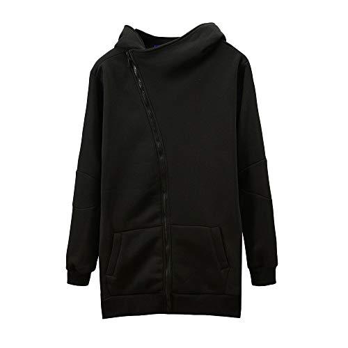 MIRRAY Herren Langarm Reißverschluss Tasche mit Kapuze Sweatshirt Top Bluse ()