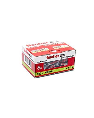 FISCHER 555006 Caja De 100 Ud Gris/Rojo