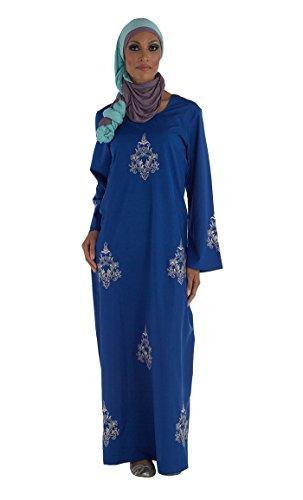 East Essence - Robe - Solid - Femme Bleu - Bleu marine