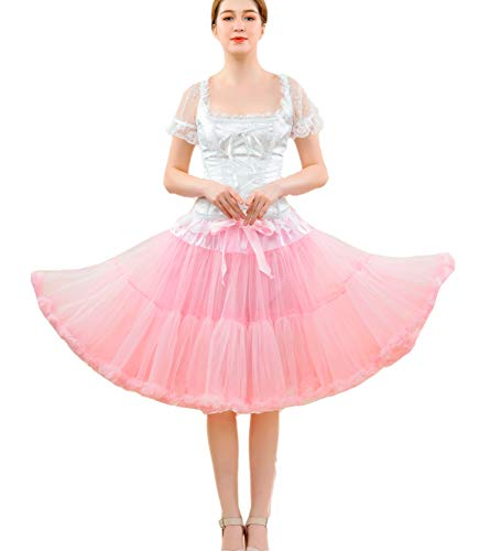 Kostüm Tüll Rock Tanz - FOLOBE Frauen Tutu Kostüm Ballett Tanz Puffy Rock Erwachsene Luxuriöse Weiche Chiffon Petticoat Tüll Tutu Rock