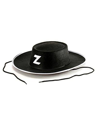 Schwarzer Zorro Hut (Diego Deluxe Kostüme)