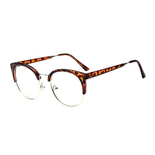 Deylaying Persönlichkeit Cat Eye Groß Rahmen Eyewear Kurz Entfernung Kurzsichtig Kurzsichtigkeit Brille Blau Licht Filter Linsen (Stärke -2.0, Leopard) (Diese sind nicht Lesen Brille)