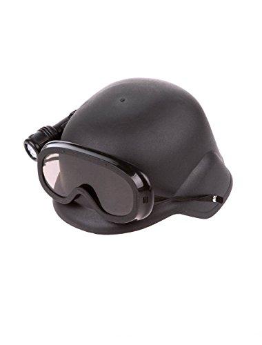 Helm mit Brille und Taschenlampe Keine Größe (Kinder Swat Helm)