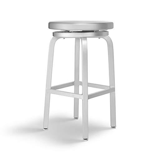 Barhocker Modernes Design, Aluminium Drahtziehverfahren Swivel Montiert Barhocker Hochhocker Modern Dining Chair Geeignet für Cafe Restaurant (größe : H 66CM) -