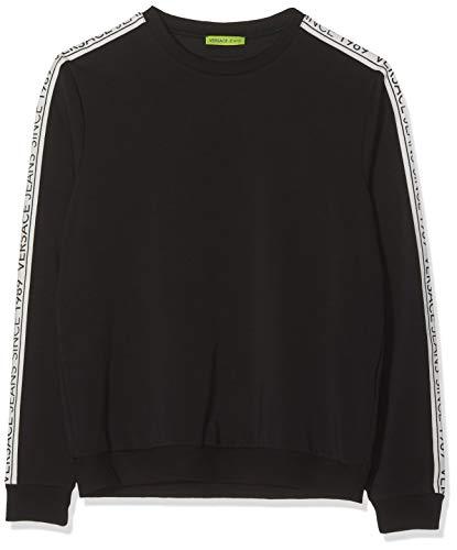 Versace Jeans Couture Herren Man Light Sweater Kapuzenpullover, Schwarz (Nero 899), XX-Large