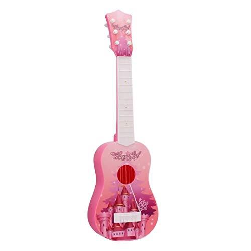 Foxom Guitarra Niños 6 Cuerdas Infantil Guitarra Juguetes - Instrumento Musical para Niño y Niña de 3 años + (Rosa)