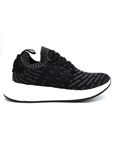 adidas Nmd_r2 Primeknit, Chaussures de Running Femme, Noir Noir (Utility Black/core Black/ftwr White)