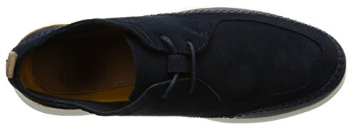 Clarks Pitman Free, Sneakers Basses Homme Bleu (Navy Suede)