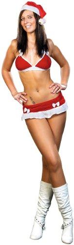 """Preisvergleich Produktbild infactory Weihnachtsoutfit Damen: 3-teiliges Weihnachtskostüm aus Samt """"Santa Bikini"""" mit Mütze Gr. S (Weihnachts-Dessous)"""