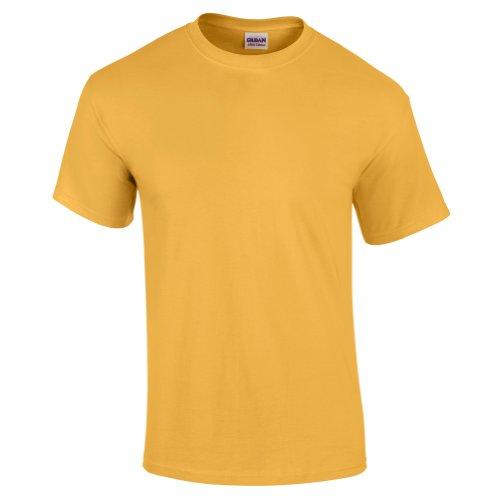 Gildan Ultra T-Shirt, aus Baumwolle Gr. Large, Gelb - Honey (Jerzees Tee Ringer)