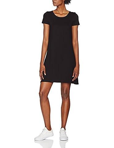 ONLY Onlbera Back Lace Up S/S Dress Jrs, Robe Femme, Noir (Black Black), 38 (Taille Fabricant: Medium)
