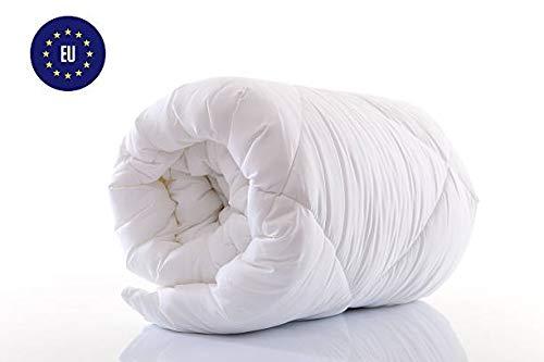 Amazinggirl Edredón nórdico para Todo el año Microfibra, Edredón de Fibra Extra Cálido Hipoalergénico Blanco Hecho Acolchada Cama para niños bebé, 135 x 200 cm