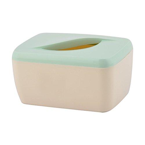Sourcingmap Salon Forme Rectangle plastque Support Tissu Vert Beige Organisateur