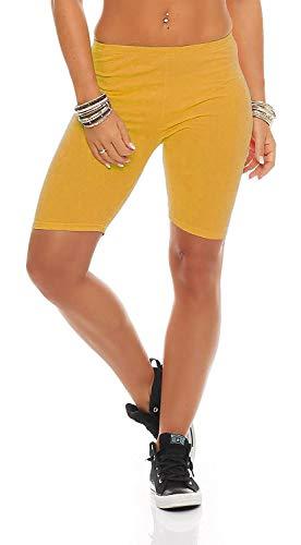 Leggings amarillos mujer deportivos - Cortos