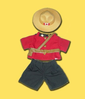 Canadian Police Officer Outfit Teddy Bear Clothes Fit 14 - 18 Build-a-bear, Vermont Teddy Bears, and Make Your Own Stuffed Animals by Stuffems Toy Shop