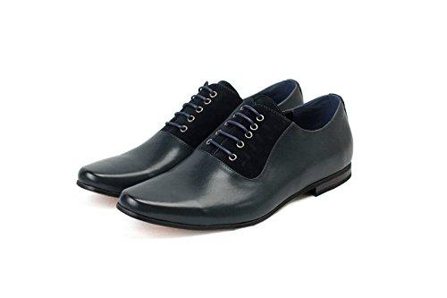 Hommes Élégant Chaussures Habillées À Lacets pour Bureau Habillé Mariage Travail Marine/Marine