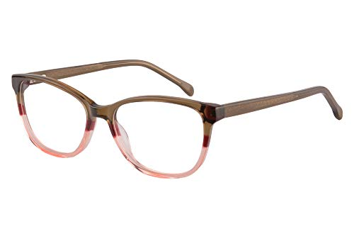 SHINU Colorful Acetate Frame Brille Anti Blue Light Progressive Multifokus Presbyopie Brille fur Frauen-RD656(C4.hoch +1.00.runter +3.00 anti-blau linse)