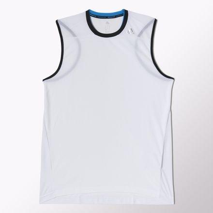 adidas Herren Tank Clima365 Sleeveless Tee White/Black L -