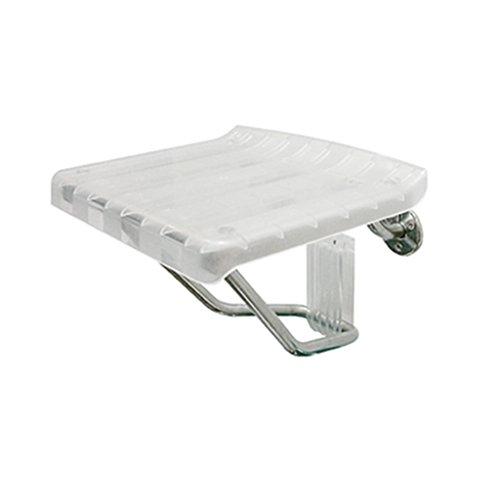 Faltbarer Wandhocker Badezimmer-Duschhocker Transparentes ABS-Brett Klappstuhl Gangstuhl Älterer Duschstuhl Wickelschuhe Wandstuhl 38 cm Schwere max. 160 kg
