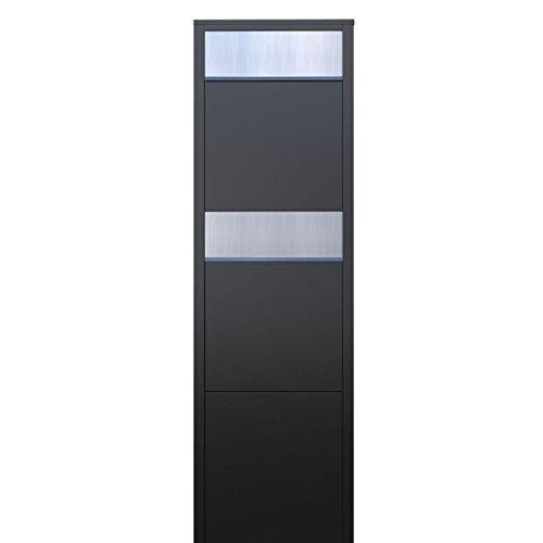 Briefkastenanlage, Design Briefkasten Big Box for Two Schwarz/Edelstahl – Bravios - 2