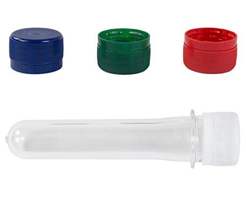 BURI 100x Deckel für PETlinge Schraubdeckel PETling Kunststoff, Farbe:blau Farbe Deckel