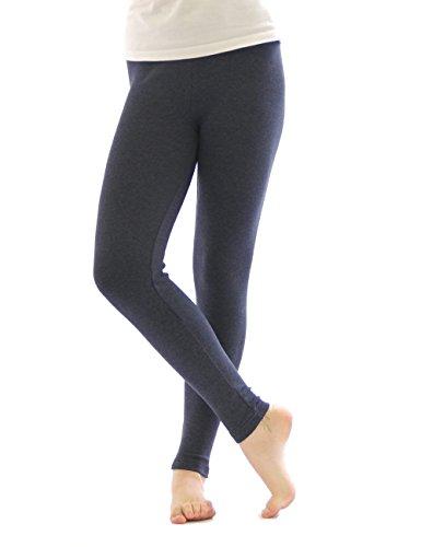 Thermo Leggings leggins Hose lang aus Baumwolle Fleece warm dick weich jeans XXL
