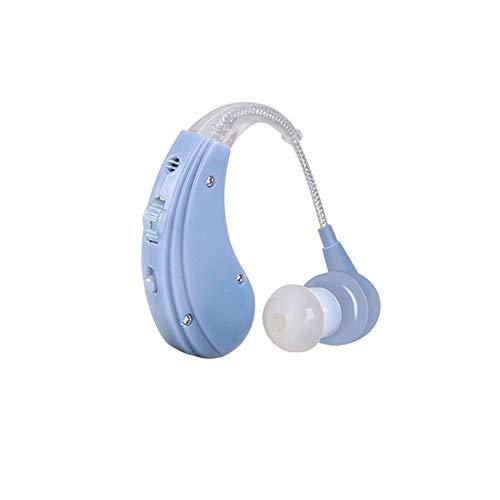 HM2 Digitales Hörgerät, wiederaufladbare Ohrpflegemittel 2 Farbverstellbare Hörgeräte für ältere Menschen Hörverlust-Klangverstärker,Blue Digitales Hörgerät
