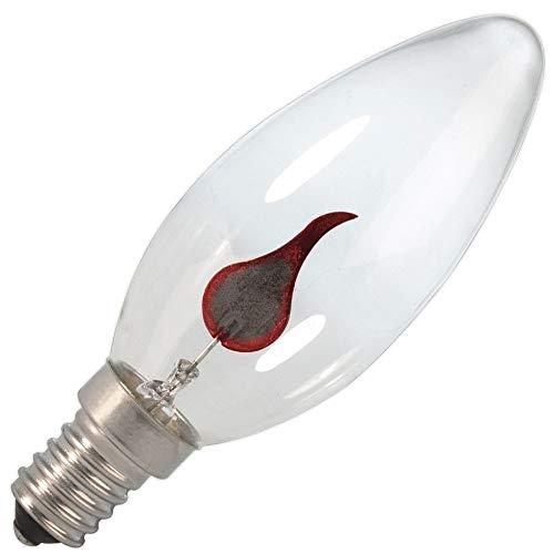 Calex Kerzenlampe mit Flamme klar 3W E14
