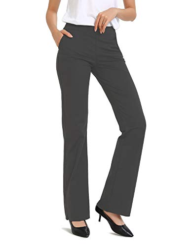 Safort Regular/Tall Bootcut Yoga Hose mit 71cm/76cm/81cm/86cm Schrittlänge, 4 Hosentaschen,Lange Bootleg-Hose, Flare-Hose