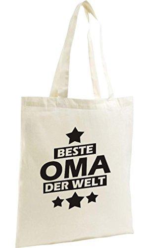 shirtstown SHOPPING-BAG organico Zen, SHOPPER Beste OMA DEL MONDO Naturale