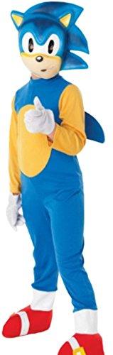 erdbeerloft - Unisex - Kinder Karnevalskomplettkostüm Videogame Sonic the Hedgehog, 110, (Kind Kostüme Sonic The Hedgehog Sonic)