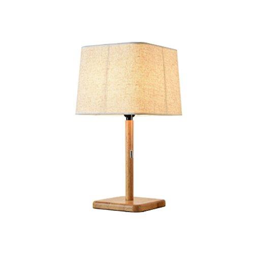 LSX- Schreibtischlampe Schlafzimmer-Nachttischlampe, kreatives nordisches hölzernes Wohnzimmer ziehen die Linie japanische feste hölzerne LED-Lampe oyo