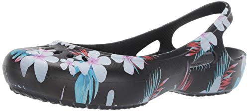 crocs Damen Kadee Seasonal Women Slingback Ballerinas, Schwarz (Tropical Floral/Black 98f), 41/42 EU