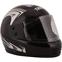 TRYFLY All Purpose Safety Helmet with Strap ISI APPROVED (KIMI SILVER Free Size)