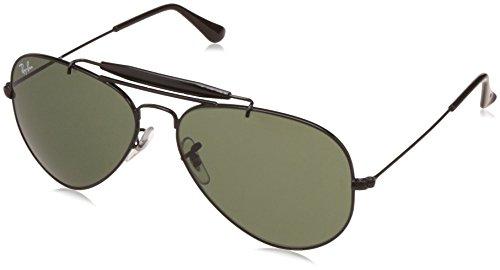Ray-Ban Aviator Sunglasses (Black) (0RB3129IW022858)