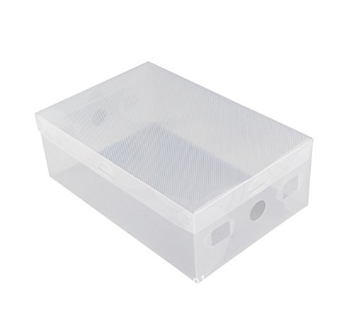 Oyfel Rangement de Zapato Cajas de Almacenamiento de Caja de Zapatos Organizador cajón Armario estantería modulable DIY plástico Transparente apilable Plegable para Garaje Dormitorio salón 1pcs