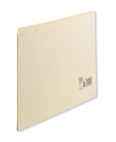 ELBA 100091736 Einstellmappe 100er Pack aus 180 g/m² Kraftkarton (recycling) mit überstehenden Taben zur Beschriftung chamois