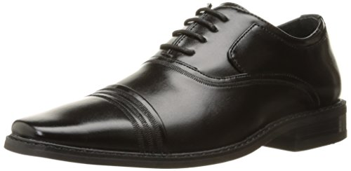 Stacy Adams Bingham Boys Cap Toe Oxford (Little Kid/Big Kid), Black, 3.5 M US Big Kid