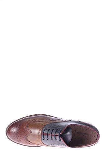 Nero Giardini Broderie-Derby Homme A503673U ALLACCIATO avec BUCATURA 304 Marron - marron