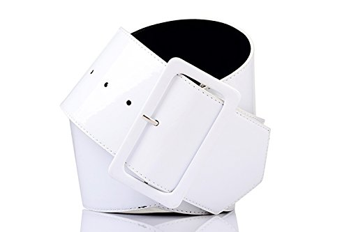 Ladies Big PVC Belt - choice of colours - ideal for 80s fancy dress