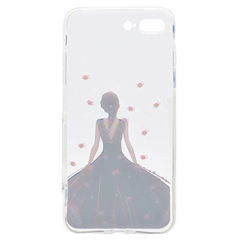 Per iPhone 7 Plus Cover , YIGA amicizia ragazza Sottile Cristallo Chiaro Case Trasparente Silicone Morbido TPU Custodia per Apple iPhone 7 Plus (5.5) TT20