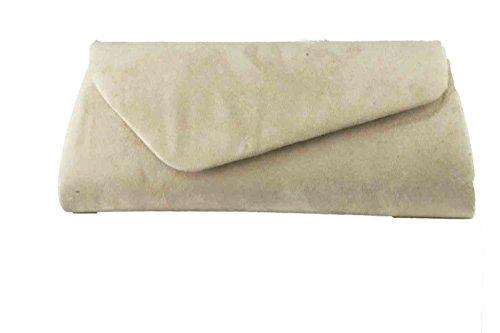 Damen Clutch, Abendtaschen, Umhängetaschen, Unterarmtaschen Beige 6116
