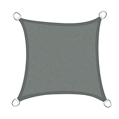 Greenbay Voile d'ombrage Carré | 3x3m Anthracite | Une Protection des Rayons UV | Toile d'ombrage Auvent Pare-Soleil de Jardin