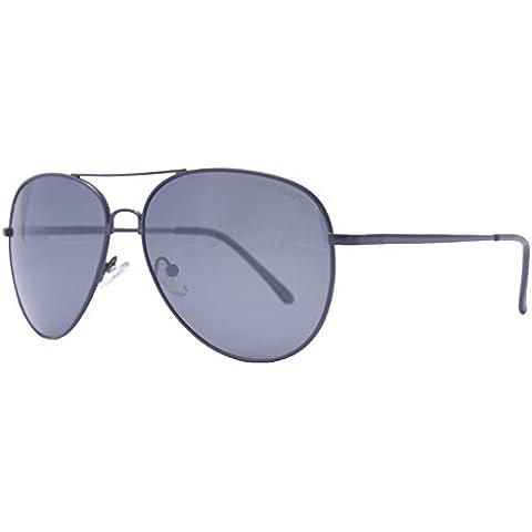OceanGlasses - Banila aviator - gafas de sol metálicas - Montura : Plateada - Lentes : Ahumadas (18110.2)