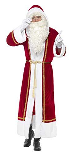 e Weihnachtsmann Umhang mit Gürtel, Größe: L/XL, Rot, 48150 ()