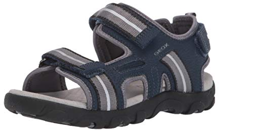 Geox Jr Sandal Strada A, Boy's Open Toe Sandals, Blue (Navy/Grey C0661), 13 Child UK (32 EU)