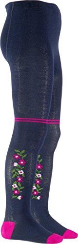 Playshoes Mädchen Landhaus, Oeko-Tex Standard 100 Strumpfhose, Blau (marine 11), 98 (Herstellergröße: 98/104)