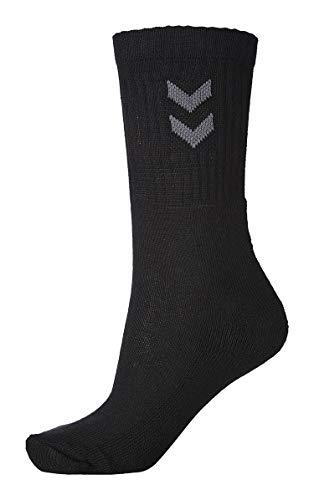 Hummel Unisex Socken 3er-Pack Basic, Schwarz (Black), 12 (41 - 45), 220302001